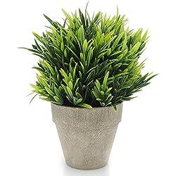 velener Artificial Plants Fake Mini Potted Grass Arrangements for Home Decor