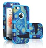 iPhone SE Case, DURARMOR iPhone SE 5S Van Gogh Starry Night Dual Layer Hybrid ShockProof Ultra Slim Armor Air Cushion Bumper Drop Protection Case Cover for iPhone SE 5S 5