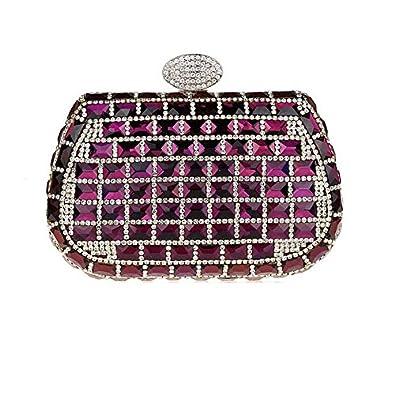 c72443e09d36 Glas bohren Kleid Luxus Abend Taschen Handtaschen Paket Kette Tasche von  Hand, silber