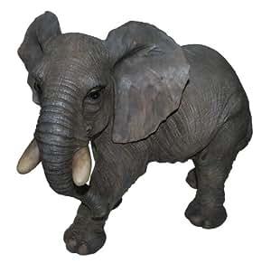 Vivid Arts gran jardín elefante tamaño ornamento B