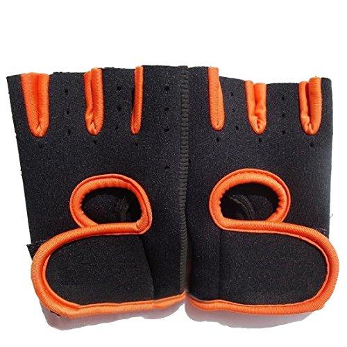 Half Finger Anti-skid Ultre-breathable Outdoor Gloves Orange S