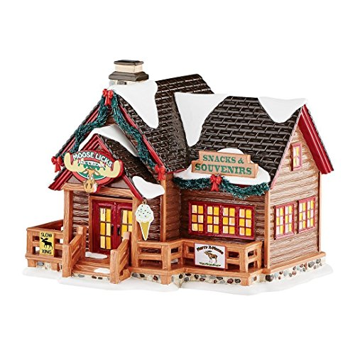 Department 56 Snow Village Moose Licks Snacks Lit House
