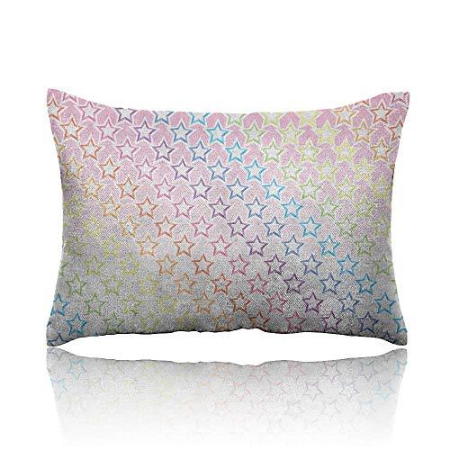 - Anyangeight Star Mini Pillowcase Stars in Rainbow Colors Galaxy Milky Way Theme Teen Girls Room Nursery Print Fun Pillowcase 20
