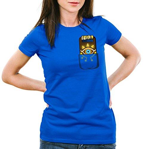 Femme t Of Switch The Zelda shirt n Snes Link Sheikah Ocarina A Bleu Wild Tablette Breath T YHAxqgw