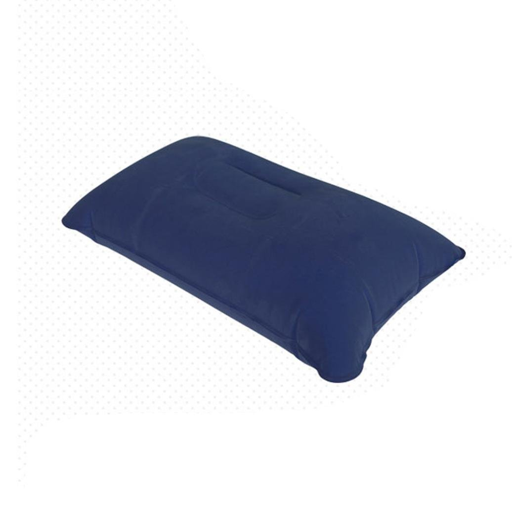 Inflatable Pillow,Camping Pillows,Ultralight Travel Air Cushion Camping Beach Car Head Rest Support Good Sleep For Camp Backpacking Makaor (38x24cm(14.96x9.44inch), Purple)
