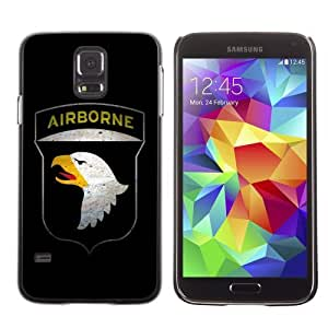 Designer Depo Hard Protection Case for Samsung Galaxy S5 / AIRBORNE Military Sign