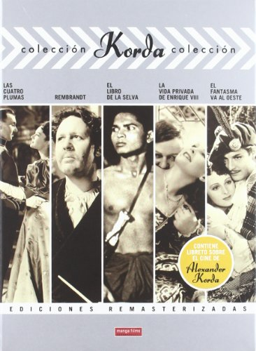Korda Collection (Vol. 1) - 5-DVD Box Set ( The Four Feathers (4 Feathers) / Rembrandt / Jungle Book / The Private Life of Henry VIII / The Ghost Goes Wes [ NON-USA FORMAT, PAL, Reg.2 Import - Spain ]