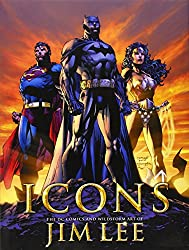 'Icons: The DC Comics and Wildstorm Art of Jim Lee' from the web at 'https://images-na.ssl-images-amazon.com/images/I/51YMdu-SnuL._UY250_.jpg'