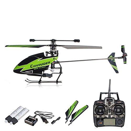 4.5 Kanal 2.4Ghz RC mini SINGLE ROTOR ferngesteuerter Hubschrauber/Helikopter/Heli mit 2.4Ghz Technik und mit der neuesten Gyro Gyroscope-Technologie! Ready-to-Fly! MEGA-SET: inkl. 2xAKKU + USB LADEGERÄT + ERSATZROTORBLÄTTER-SET
