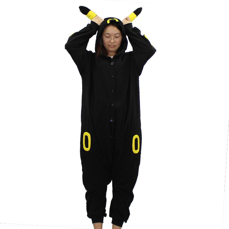 WXCTEAM Anime Black Unicorn Pajamas Adult Unisex Christmas Halloween Carnival Cosplay Polar Fleece Romper Pajamas