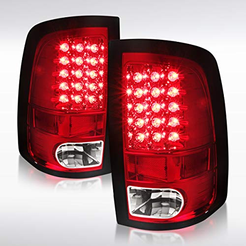 Autozensation For Dodge Ram 1500 2500 3500 Red LED Tail Brake Lights Pair