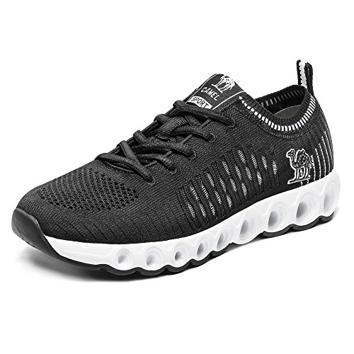 Camel Men's Trail Running Shoes Lightweight Breathable Shockproof Athletic Casual Mesh Walking Shoes 9.5US 43 Black by Camel
