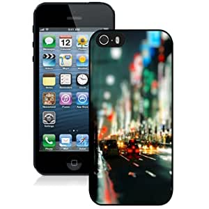 Fashionable Custom Designed Cover Case For iPhone 5S With City Night Bokeh Phone Case Cover