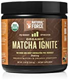 Natural Force® Matcha Ignite USDA Organic Pre Workout *ORGANIC ENERGY DRINK POWDER* Paleo, Vegan, Non GMO, Gluten Free, Natural Pre Workout, ChocoMatcha, 5.98 oz.