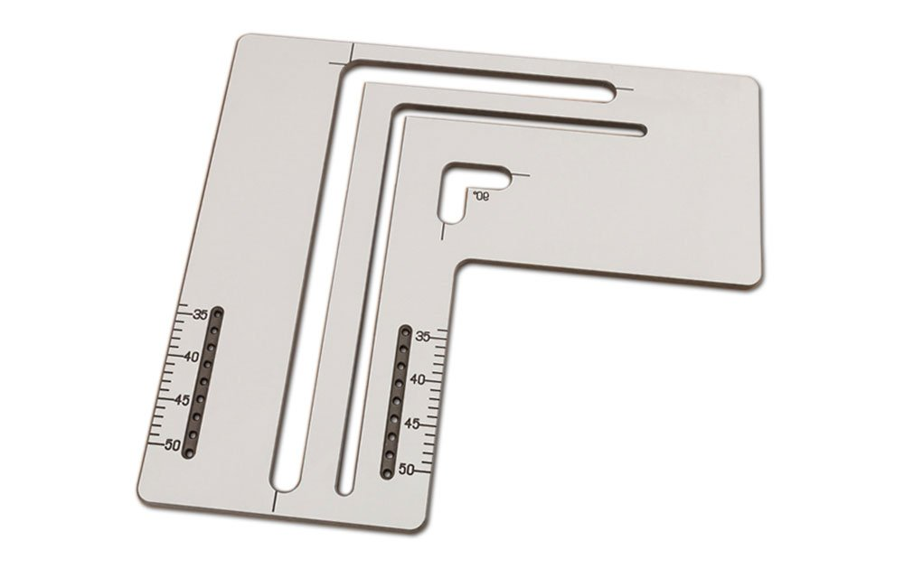 Solid Laminate Belfast Sink Cutting Jig for Kitchen Worktops Professional Router Template