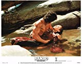 RAMBO FIRST BLOOD 2 SYLVESTER STALLONE LOBBY CARD 11X14