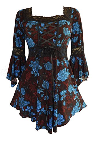 - Dare to Wear Victorian Gothic Peasant Women's Plus Size Renaissance Corset Top, French Roast M