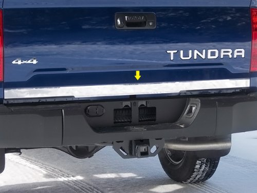 (QAA FITS TUNDRA 2014-2019 TOYOTA (1 Pc: Stainless Steel Rear Tailgate Accent Trim - 2.5