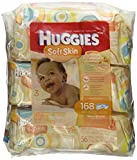 Health & Personal Care : Huggies Soft Skin Baby Wipes, Soft Pack, with Shea Butter 56 Ct (3 Packs) 168 Total Wipes