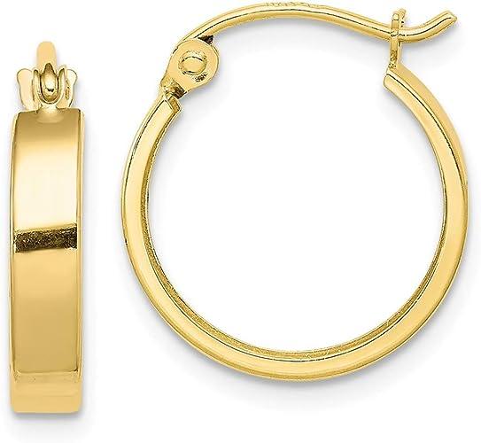 Mia Diamonds 14k Rose Gold Polished Endless Tube Hoop Earrings