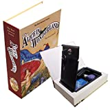 Alice in Wonderland Safe - Secret Compartment inside look-alike Alice in Wonderland book (includes keys) - Book Safe - Security Safe - Security Box - Lock Box - Lock Safe - Key Safe