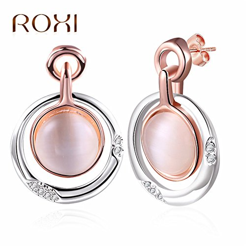 usongs Opal earrings women girls models posing in minimalist fashion coral earrings 2018 magazine