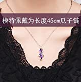 sterling Silver amethyst necklace Pendant chain clavicle women girl fashion jewelry _design