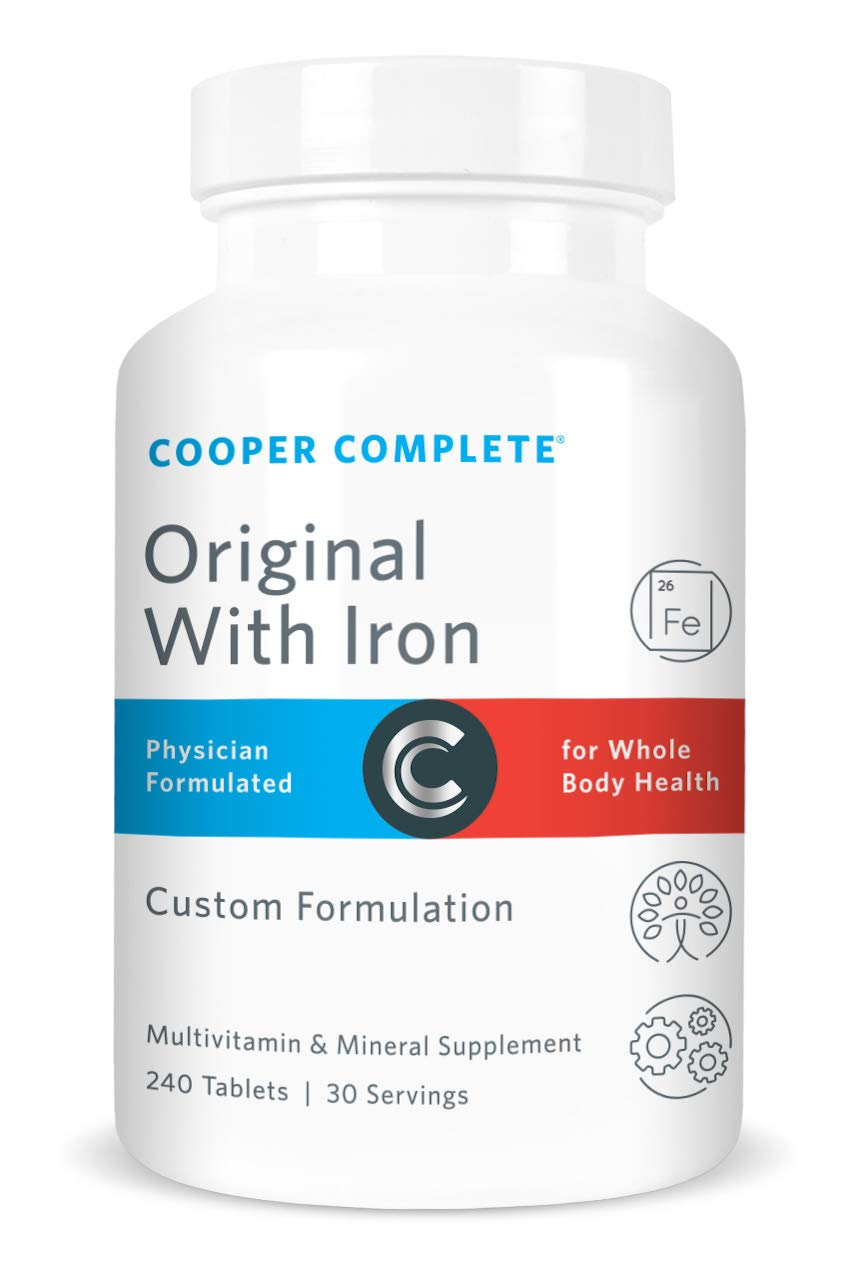 Cooper Complete - Original Multivitamin with Iron - Daily Multivitamin and Mineral Supplement - 30 Day Supply