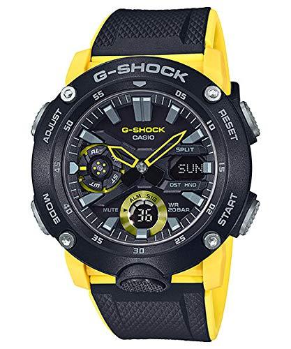 G-Shock Men's GA2000-1A9 Black/Yellow One Size