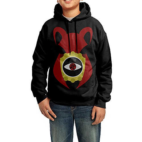 Crazy Magician Costume (YHTY Youth Unisex Hoodie Super Magician Doctor Strange Logo Black Size M)