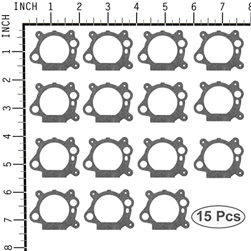 - uxcell 15pcs 795629 Carburetor Air Cleaner Gasket for Briggs & Stratton 272653 272653S