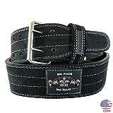 UniteduShop PRO 2 Heavy Duty 10mm Weight Lifting Belt for Men and Women | 4 inch Genuine Leather Power Lifting Belt NoPain NoGain – USA Design