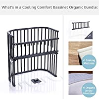 babybay Bassinet Cooling Comfort Organic Bundle in Slate Gray