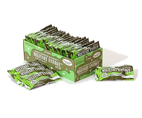 Military Energy Gum (MEG) - Spearmint - Tray (24 packs - 5pcs/pk) 100mg caffeine/pc - Military Specification Formula