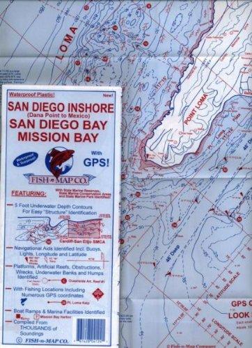 San Diego Inshore, San Diego Bay, Activity Bay Fishing Map, California