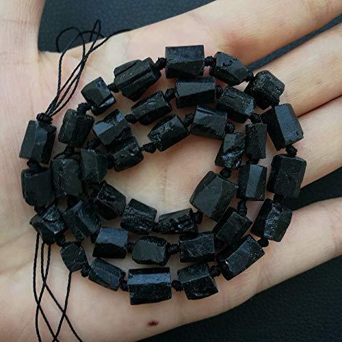 FidgetKute 8SE11170 Natural Black Tourmaline Nugget Loose Beads 16.5