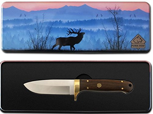 Puma-SGB-Elk-Hunter-Wood-Hunting-Knife-with-Gift-Tin-and-Ballastic-Nylon-Sheath