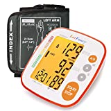 Blood Pressure Monitor, Automatic Upper Arm BP Cuff, Fits Small to Large Adult Arms 8.6 to 16.5 inches, 2-User Mode, FDA Approved, Easy-to Read Backlit LCD Display