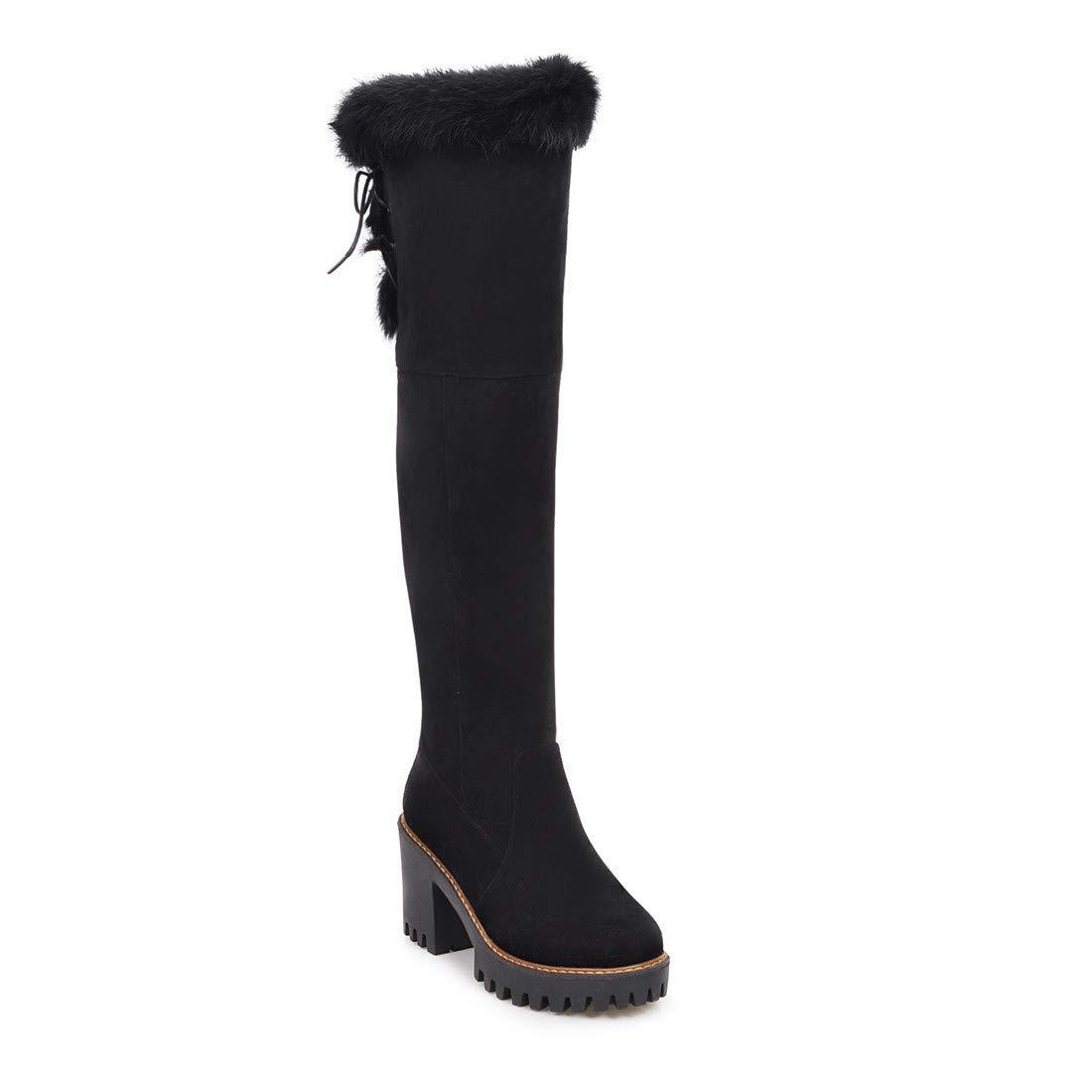 Stiefel-DEDE Stiefel  hohe übergroße hohe  Stiefel  Mode Herrenstiefel   Europa und Amerika hochhackige Stiefel für Damen b06114