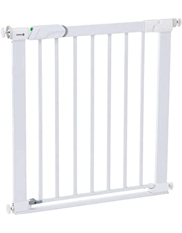 Safety 1st Easy Close Barrera de seguridad metálica para puertas, color blanco