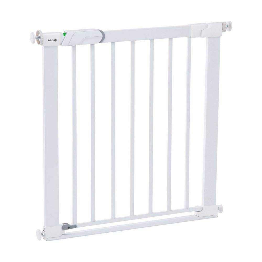 Safety 1st Easy Close Barrera de seguridad metálica para puertas, color blanco product