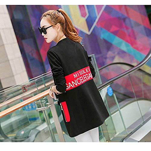 Outerwear Libero Donna Collo Sciolto Especial Primaverile Coat Di Giaccone Lunga Rotondo B Estilo Giacca Stampato Tempo Autunno Eleganti Manica Cappotto Moda TpnpFPdq