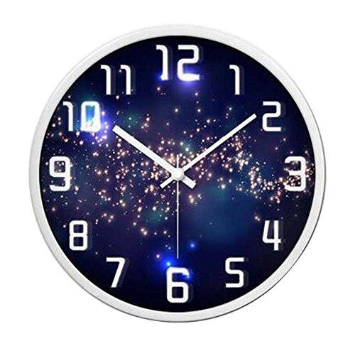 Alien Storehouse [Estrellas] Reloj de Pared Elegante DE 12 Pulgadas Reloj de Pared silencioso...