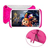 [Kids Edition Tablet] 7 Inches Tablet PC, [HD Touchscreen Mic WIFI ]--Android 4.4 Octa Core Quad Core [Dual Camera Phone] Wifi Phablet Tablet ,Support Games,Skype,MSN,Facebook, Twitter, etc (Hot Pink)