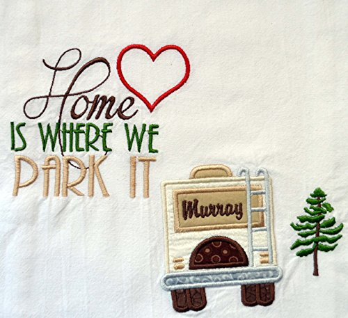 Custom Dish Towel, RV Decor, Camping Dish Towel, Glamping , RV Accessories, Flour Sack Towel, RV Gift, Camper Decor, Top Quality, Choice of RV Color, (Option to add name in - Hut Names