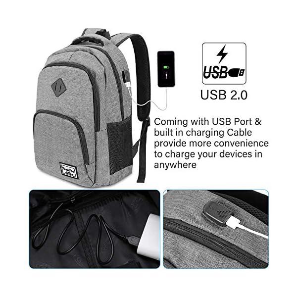 Zaino per Computer,Unisex Laptop Zaino Portatile da 15.6 Pollici Business Zaino con Porta USB Zaino Scuola (B6-Grigio) 2 spesavip
