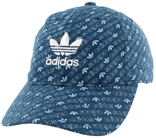 adidas Women's Originals Relaxed Adjustable Strapback Cap, Monogram Print/Legend Marine/Ash Grey/White, One Size