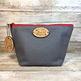 Grey Vintage Shasta Travel Trailer Cosmetic Bag with matching Key chain