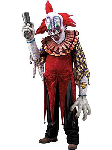 Giggles The Clown Creature Reacher Deluxe Oversized Mask and Costume ()