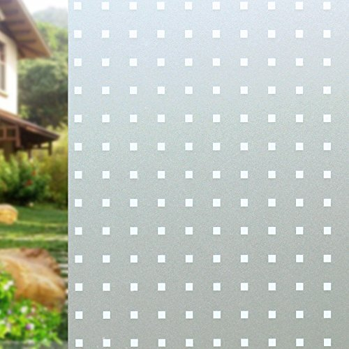DuoFire Privacy Window Film Dot Pattern Frosted Glass Film Static Cling Glass Film No Glue Anti-UV Window Sticker Non Adhesive For Privacy Office Bathroom Bedroom Living Room 23.6in. x 78.7in. (Dot Window)